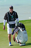 Brian Nilsson caddy for Nicolas Colsaerts (BEL) on the 16th during the Pro-Am of the Saudi International at the Royal Greens Golf and Country Club, King Abdullah Economic City, Saudi Arabia. 29/01/2020<br /> Picture: Golffile | Thos Caffrey<br /> <br /> <br /> All photo usage must carry mandatory copyright credit (© Golffile | Thos Caffrey)