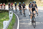 Christian Knees (GER) and Team Sky set the pace on the front during Stage 19 of the 2017 La Vuelta, running 149.7km from Caso. Parque Natural de Redes to Gij&oacute;n, Spain. 8th September 2017.<br /> Picture: Unipublic/&copy;photogomezsport | Cyclefile<br /> <br /> <br /> All photos usage must carry mandatory copyright credit (&copy; Cyclefile | Unipublic/&copy;photogomezsport)