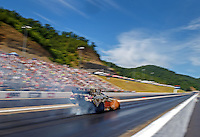 Jun 19, 2016; Bristol, TN, USA; NHRA funny car driver Matt Hagan during the Thunder Valley Nationals at Bristol Dragway. Mandatory Credit: Mark J. Rebilas-USA TODAY Sports