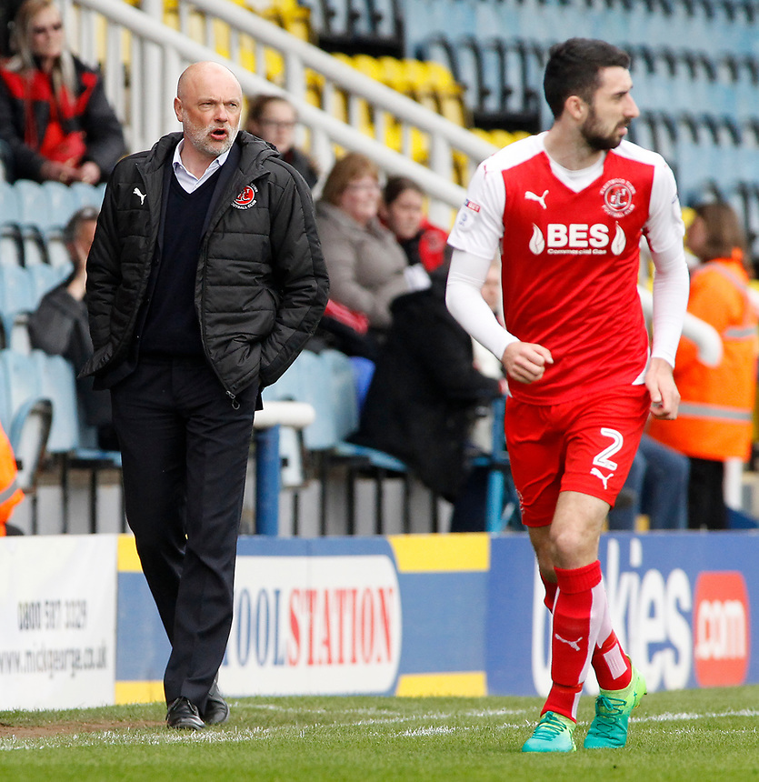 Fleetwood Town manager Uwe Rosler looks on from the touchline<br /> <br /> Photographer David Shipman/CameraSport<br /> <br /> The EFL Sky Bet League One - Peterborough United v Fleetwood Town - Friday 14th April 2016 - ABAX Stadium  - Peterborough<br /> <br /> World Copyright &copy; 2017 CameraSport. All rights reserved. 43 Linden Ave. Countesthorpe. Leicester. England. LE8 5PG - Tel: +44 (0) 116 277 4147 - admin@camerasport.com - www.camerasport.com