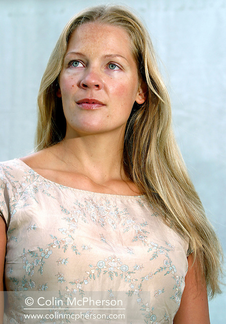 Norwegian author Åsne Seierstad, pictured at the Edinburgh International Book Festival where she talked about her book entitled 'The Bookseller of Kabul'. The Book Festival is the world's biggest literary festival with appearances by over 500 authors from across the world. It is expected to draw record attendances this year.........