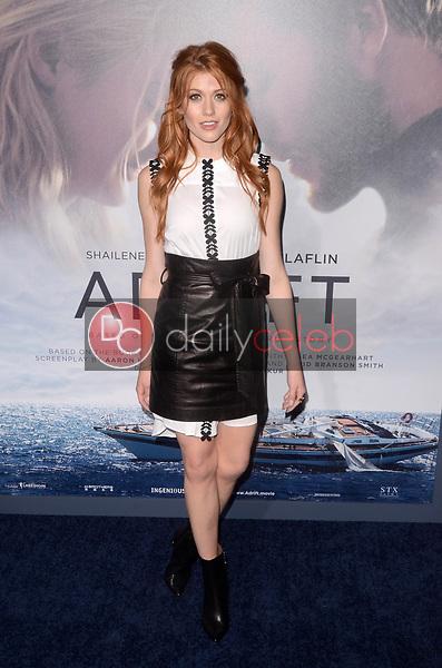 "Katherine McNamara<br /> at the ""Adrift"" World Premiere, Regal Cinemas L.A. Live, Los Angeles, CA 05-23-18<br /> David Edwards/DailyCeleb.com 818-249-4998"