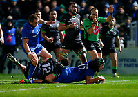 4th January 2020; RDS Arena, Dublin, Leinster, Ireland; Guinness Pro 14 Rugby, Leinster versus Connacht; Joe Tomane of Leinster scoring a try for 24 - 0  - Editorial Use