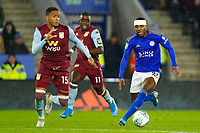 8th January 2020; King Power Stadium, Leicester, Midlands, England; English Football League Cup Football, Carabao Cup, Leicester City versus Aston Villa; Ricardo Pereira of Leicester City on the ball covered by Konsa of Villa - Strictly Editorial Use Only. No use with unauthorized audio, video, data, fixture lists, club/league logos or 'live' services. Online in-match use limited to 120 images, no video emulation. No use in betting, games or single club/league/player publications