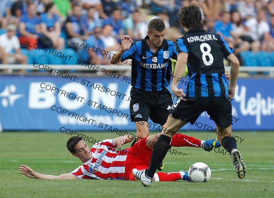Fudbal UEFA Europa League season 2013-2014<br /> Cernomorec Vs. Crvena Zvezda<br /> Vukan Savicevic down<br /> Odessa, 02.08.2013.<br /> foto: Srdjan Stevanovic/Starsportphoto &copy;