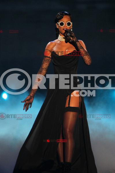 NEW YORK, NY - NOVEMBER 7: Rihanna at the 2012 Victoria's Secret Fashion Show at the Lexington Avenue Armory on November 7, 2012 in New York City. <br /> Credit RW/MediaPunch/NortePhoto.com