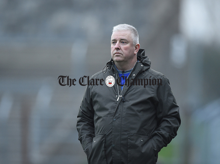 Clare mentor Maurice Walsh on the sideline against  Limerick during their Munster Minor football quarter final at  Cusack Park. Photograph by John Kelly.