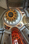 The interior view of Dome Church. Hotel les Invalides. Paris. city of Paris. France