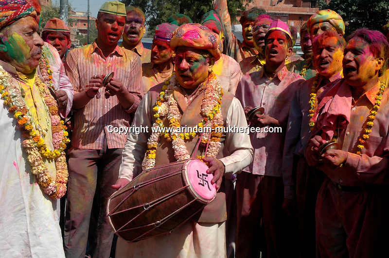 Music is a part of Holi festival in Jaipur, Rajasthan, India, Arindam Mukherjee
