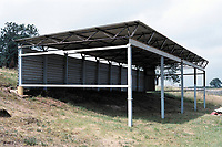 Covered area at Blidworth Welfare FC Football Ground, Welfare Ground, Blidworth, Nottinghamshire, pictured on 12th July 1991