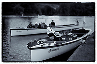 Henley on Thames, United Kingdom. 9th July  2016, Henley Masters' Regatta. Henley Reach. England. on Saturday  09/07/2016   &copy; Peter SPURRIER,<br /> Umpires Launch, &quot;Bosporos &quot; [Oxford University BC Boat]  Rowing, Henley Reach, Henley Masters' Regatta.<br /> <br /> General View,  Henley Reach, venue, for the 2016 Henley Masters Regatta.