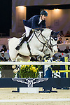 Daniel Deusser of Germany riding Cornet D'Amour competes in the Hong Kong Jockey Club Trophy during the Longines Masters of Hong Kong at the Asia World Expo on 09 February 2018, in Hong Kong, Hong Kong. Photo by Ian Walton / Power Sport Images