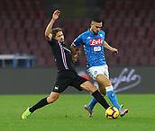 2nd February 2019, Stadio San Paolo, Naples, Italy; Serie A football, Napoli versus Sampdoria; Gaston Ramirez of Sampdoria challanges Nikola Maksimovic of Napoli