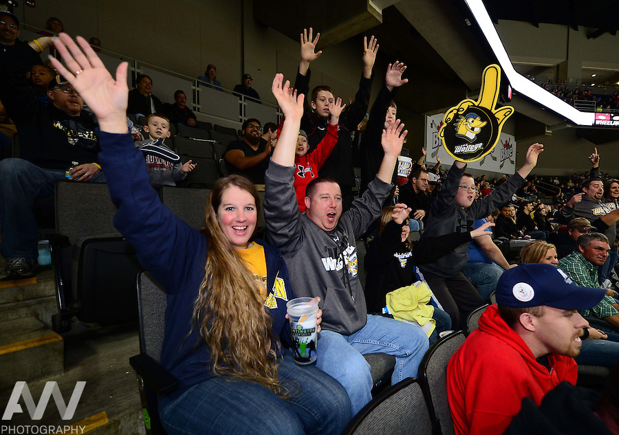 Nov 10, 2012; Toledo, OH, USA; Toledo Walleye fans against the Wheeling Nailers at Huntington Center. Mandatory Credit: Andrew Weber
