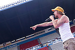 02.06.2012. The singer  Macaco in the ´Cadena 100´ 20 th anniversary Concert at the stadium Vicente Calderon in Madrid.In the image: Macaco  (Alterphotos/Marta Gonzalez)