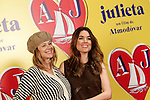 Spanish actresses Emma Suarez (l) and Adriana Ugarte attend the photocall of presentation of the Pedro Almodovar's new film 'Julieta'. April 4, 2016. (ALTERPHOTOS/Acero)