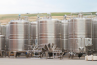 Fermentation tanks. Alpha Estate Winery, Amyndeon, Macedonia, Greece