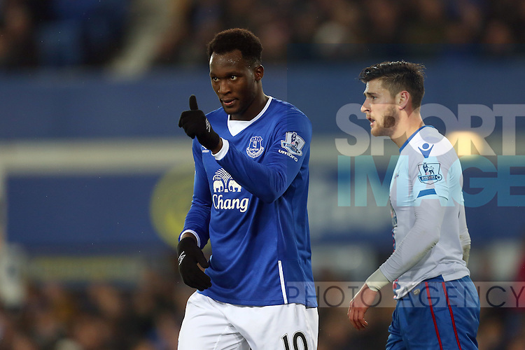 Romelu Lukaku of Everton gives the thumbs up - Everton vs Crystal Palace - Barclays Premier League - Goodison Park - Liverpool - 07/12/2015 Pic Philip Oldham/SportImage
