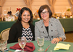 Naugatuck, CT- 05 October 2017-100517CM11-  From left,  Priya Ramsammy and Lori Nemec  with Ion Bank are photographed during an Oktoberfest fundraiser, to benefit the Whittemore Library at the Crystal Room in Naugatuck on Thursday.  Christopher Massa Republican-American