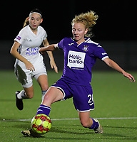 20190920 – LEUVEN, BELGIUM : RSC Anderlecht's Charlotte Tisson is pictured during a women soccer game between Dames Oud Heverlee Leuven A and RSC Anderlecht Ladies on the fourth matchday of the Belgian Superleague season 2019-2020 , the Belgian women's football  top division , friday 20 th September 2019 at the Stadion Oud-Heverlee Korbeekdam in Oud Heverlee  , Belgium  .  PHOTO SPORTPIX.BE   SEVIL OKTEM