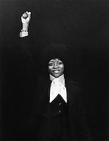 Joan Little speaking at Northeastern University Boston MA 1975