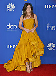 a_ Sandra Bullock poses in the press room with awards at the 77th Annual Golden Globe Awards at The Beverly Hilton Hotel on January 05, 2020 in Beverly Hills, California.