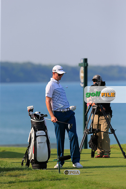 Justin Rose (ENG) on the 16th tee during Sunday's Final Round of the 97th US PGA Championship 2015 held at Whistling Straits, Mosel, Kohler, Wisconsin, United States of America. 16/08/2015.<br /> Picture Eoin Clarke, www.golffile.ie