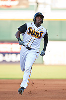 Greg Burns of the  Jacksonville Suns during a game vs. the Tennessee Smokies July 10 2010 at Baseball Grounds of Jacksonville in Jacksonville, Florida. Photo By Scott Jontes/Four Seam Images