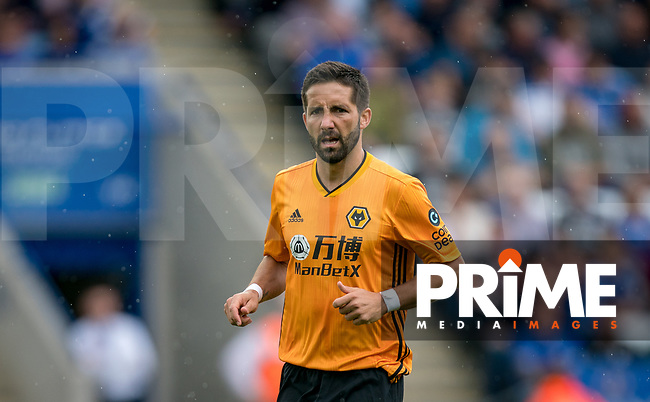 João Moutinho of Wolves during the Premier League match between Leicester City and Wolverhampton Wanderers at the King Power Stadium, Leicester, England on 10 August 2019. Photo by Andy Rowland.