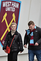 Fans arrive during West Ham United vs Arsenal, Premier League Football at The London Stadium on 12th January 2019