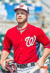10 March 2015: Washington Nationals infielder Cutter Dykstra arrives to the ballpark prior to a Spring Training game against the Miami Marlins at Roger Dean Stadium in Jupiter, Florida. The Marlins edged out the Nationals 2-1 on a walk-off solo home run in the 9th inning of Grapefruit League play. Mandatory Credit: Ed Wolfstein Photo *** RAW (NEF) Image File Available ***