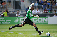 CD Chivas USA goalkeeper Zach Thornton (22). The Philadelphia Union defeated CD Chivas USA 3-0 during a Major League Soccer (MLS) match at PPL Park in Chester, PA, on September 25, 2010.