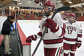 Hillary Crowe (Harvard - 8), Briana Mastel (Harvard - 17) - The Harvard University Crimson defeated the visiting Boston University Terriers 3-1 on Friday, November 22, 2013, at Bright-Landry Hockey Center in Cambridge, Massachusetts.