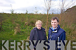 Margaret McElligott pictured at her forestery in Kilflynn with Declan Lawless SWS on Thursday.