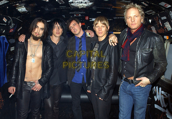 DAVE NAVARRO, BILLY MORRISON, DONOVAN LEITCH, CHRIS CHANEY & MATT SORUM - CAMP FREDDY.Backstage at The Camp Freddy South East Asia Tsunami Relief Fund Benefit held at The Key Club in West Hollywood, California .January 27th, 2005.band music, group, chest, half length, black leather jackets.www.capitalpictures.com.sales@capitalpictures.com.Supplied By Capital PIctures