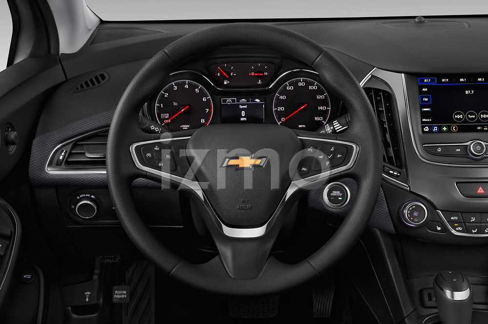 Car pictures of steering wheel view of a 2019 Chevrolet Cruze LT 5 Door Hatchback Steering Wheel