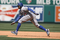 05/06/12 Anaheim, CA: Toronto Blue Jays center fielder Rajai Davis #11 during an MLB game against the Toronto Blue Jays played at Angel stadium. The Angels defeated the Blue Jays 4-3