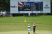 Rory McIlroy (NIR) sinks his birdie putt on 8 during round 3 of the WGC FedEx St. Jude Invitational, TPC Southwind, Memphis, Tennessee, USA. 7/27/2019.<br /> Picture Ken Murray / Golffile.ie<br /> <br /> All photo usage must carry mandatory copyright credit (© Golffile | Ken Murray)