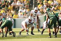 2 September 2006: Ben Muth (76) and Toby Gerhart (7) during Stanford's 48-10 loss to the Oregon Ducks at Autzen Stadium in Eugene, OR.