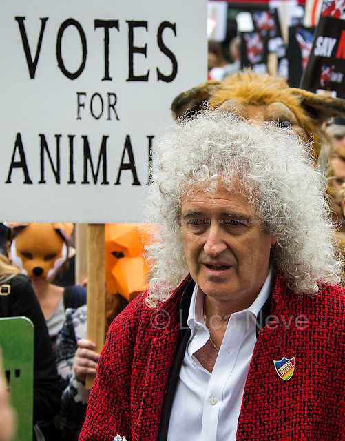Dr Brian May CBE (English musician, lead guitarist of the rock band Queen, singer, songwriter, Animal Rights activist, and astrophysicist).<br />
