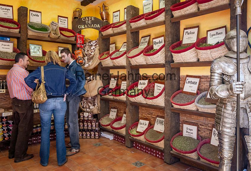 Spanien, Andalusien, Granada: Gewuerze, Kraeuter | Spain, Andalusia, Granada: spices, herbes