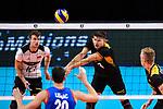 13.09.2019, Paleis 12, BrŸssel / Bruessel<br />Volleyball, Europameisterschaft, Deutschland (GER) vs. Serbien (SRB)<br /><br />Annahme Ruben Schott (#3 GER)<br /><br />  Foto © nordphoto / Kurth