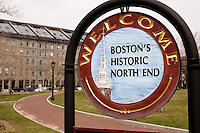 Welcome sign to Boston's north end