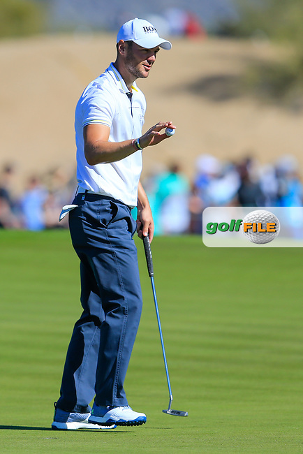 Martin Kaymer (GER) on the 15th green during the 2nd round of the Waste Management Phoenix Open, TPC Scottsdale, Scottsdale, Arisona, USA. 01/02/2019.<br /> Picture Fran Caffrey / Golffile.ie<br /> <br /> All photo usage must carry mandatory copyright credit (&copy; Golffile | Fran Caffrey)