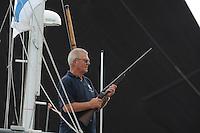 ZEILEN: LEMMER: Lemster baai, 31-07-2014, SKS skûtsjesilen, starter Peke Ritsma, ©foto Martin de Jong