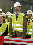Prince Felipe of Spain during the visit to the works of extension of subway line 9 Madrid.March 6,2013. (ALTERPHOTOS/Acero)
