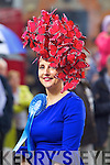 Joann Murphy from Kilgarvan who won best hat at the Dublin Horse show at the RDS on Thursday.
