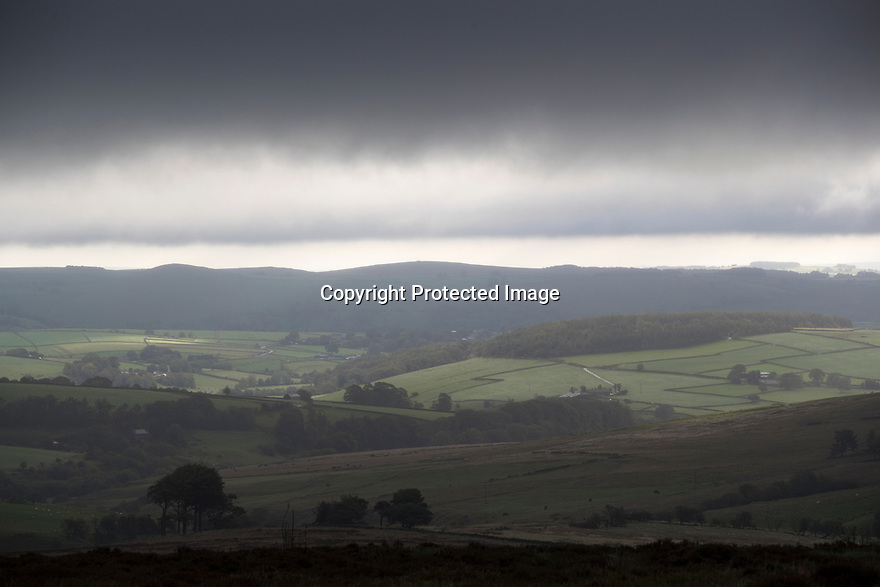 13/09/17<br /> <br /> Clouds shroud hills near Buxton as storm Aileen blows into give the Derbyshire Peak District  good soaking.<br /> <br /> <br /> All Rights Reserved F Stop Press Ltd. (0)1773 550665 www.fstoppress.com