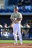 Vanderbilt Commodores pitcher / infielder Aubrey McCarty (36) pinch hits during a game against the Indiana State Sycamores on February 21, 2015 at Charlotte Sports Park in Port Charlotte, Florida.  Indiana State defeated Vanderbilt 8-1.  (Mike Janes/Four Seam Images)