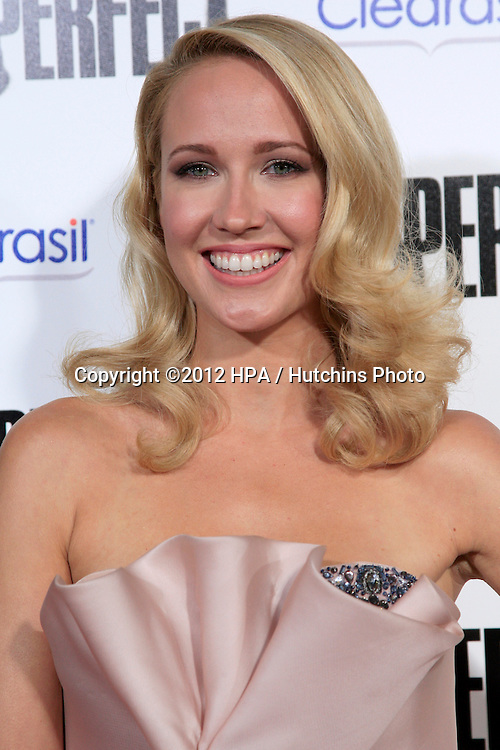 """LOS ANGELES - SEP 24:  Anna Camp arrives at the """"Pitch Perfect'"""" Premiere at ArcLight Cinemas on September 24, 2012 in Los Angeles, CA"""